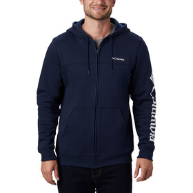 Columbia Logo Fleece Jas Doorlopende Rits Heren, collegiate navy/white